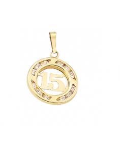 Dije XV años círculo Oro 10K