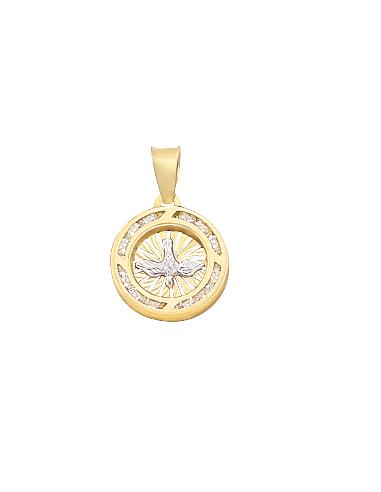 Medalla Espíritu Santo mini Oro 10K
