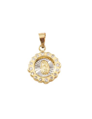 Medalla Virgen Guadalupe bisel...