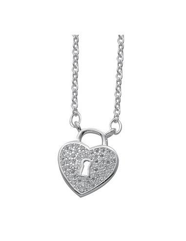 Gargantilla Corazón Cerradura 47cm