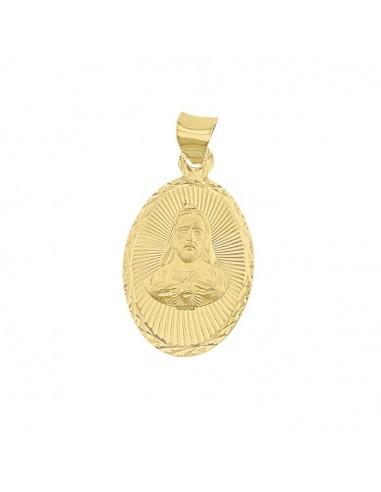 Medalla Sagrado Corazón Oval Oro Ama 10K