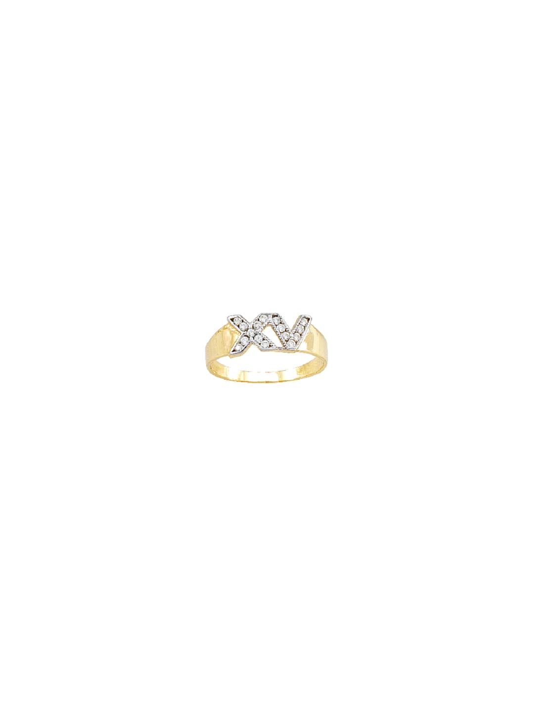 Anillo Para Xv Años Romano Oro 10k
