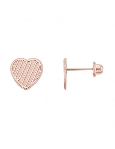 Broquel corazón Oro rosa 10K