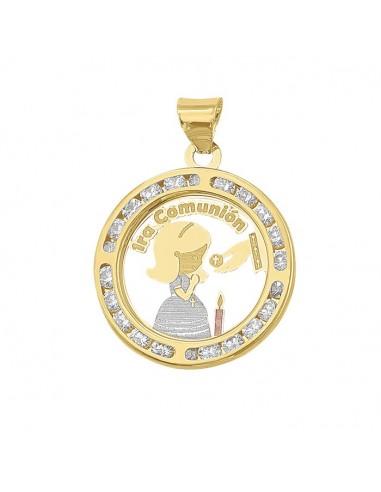 Medalla primera comunión para niña...