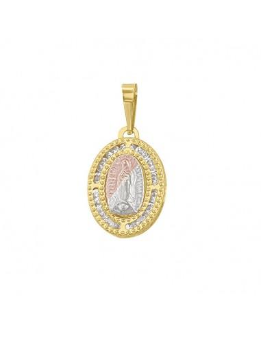 Medalla Virgen Guadalupe mini oval...